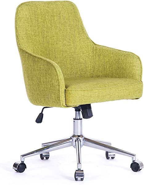 Home Office Swivel Desk Chair Upholstered Fabric Task Chair Metal Base W Z Casters Adjustable Height Tilt Control Armchair Couch Seat Office Or Living Or Conference Room Beauty Nail Salon Spa