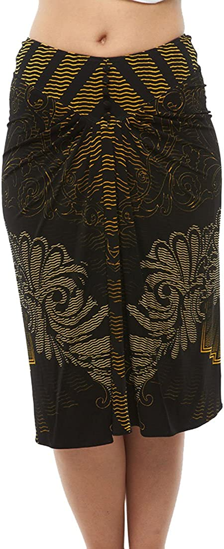 ROBERTO CAVALLI - Skirt Black & Gold Print