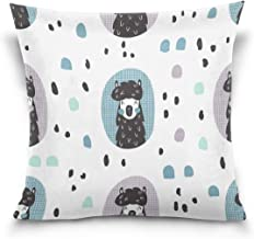 """MASSIKOA Llamas Alpaca Decorative Throw Pillow Case Square Cushion Cover 16"""" x 16"""" for Couch, Bed, Sofa or Patio - Only Ca..."""