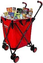 JWBB Składany wózek na zakupy na kółkach z pokrywką bezgłośny obracany o 360° koło pudełko do przechowywania wózek lekki k...