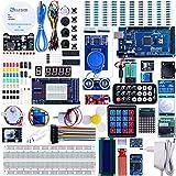 Set / Kit für Arduino - Elegoo MEGA2560 Projekt Ultimate Starter Kit mit Deutschem Tutorial, MEGA2560 R3 Mikrocontroller und viel Zubehör für Arduino Mega2560 R3