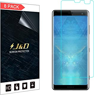 J&D Compatible for 8-Pack Sony Xperia XZ3 Screen Protector, [Not Full Coverage] Premium HD Clear Film Shield Screen Protector for Sony Xperia XZ3 Crystal Clear Screen Protector