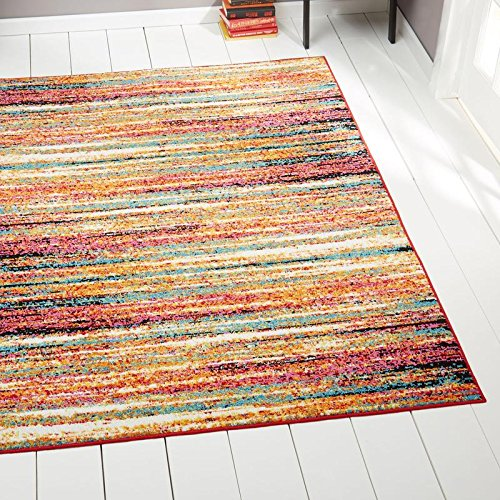 "Home Dynamix Splash Cellis Area Rug | Contemporary Living Room Rug | Abstract Brushstrokes | Bold and Vibrant Palette | Orange/Blue/Cream 19.6""x31.5"""