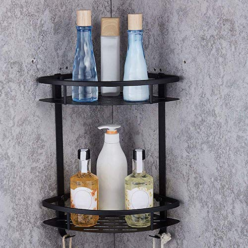 CESULIS Estantes de baño montados en la pared del triángulo de la cesta de la esquina del estante del cuarto de baño estantes del almacenamiento