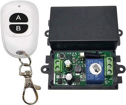 selbsthemmend perfk 433 Mhz Universal Drahtlose Fernbedienung Schalter 1CH Relais Empf/änger Modul F/ür Lichter//Deckenvorhang//Garagentor