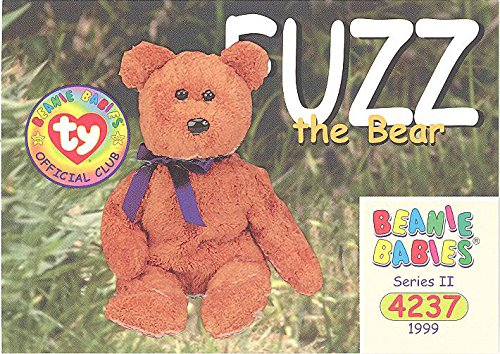 BBOC Cards TY Beanie Babies Series 2 Common - Fuzz The Bear