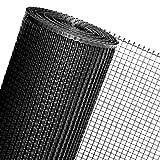 1,2m² MASCHENGEWEBE in 1,2m Breite in Schwarz Kunststoffzaun Baustellenzaun Geflügelzaun Hühnerzaun Gartenzaun Zaun Rankhilfe (METERWARE)