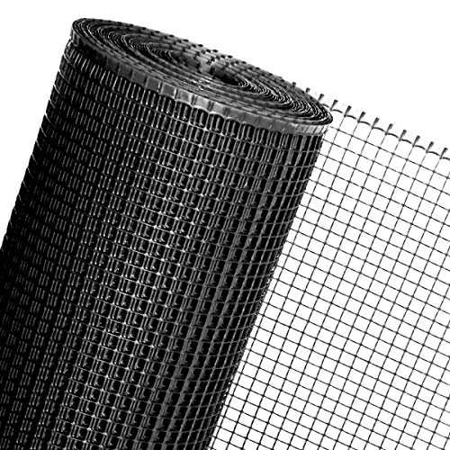 HaGa® Kunststoffzaun Geflügelzaun Zaun schwarz in 0,6m Höhe 15mm (Meterware)