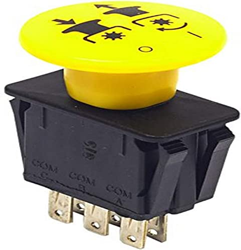 lowest Briggs and Stratton 1722887SM 2021 PTO outlet online sale Push Switch, Yellow sale