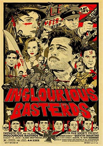binghongcha La Película De Quentin Tarantino Pulp Fiction Django Unchained Retro Poster Vintage Poster Imprime para Bar Y Decoración del Hogar N-236 (50X70Cm) Sin Marco
