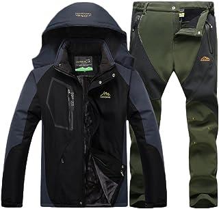 comprar comparacion Qitun Hombre de Trekking Impermeable Deportivos Transpirable Pantalones Chaqueta de Esquí Impermeable Chaqueta de Nieve Ex...