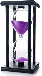 Bellaware 60 Minutes Hourglass, Wood Sand Timer,Purple