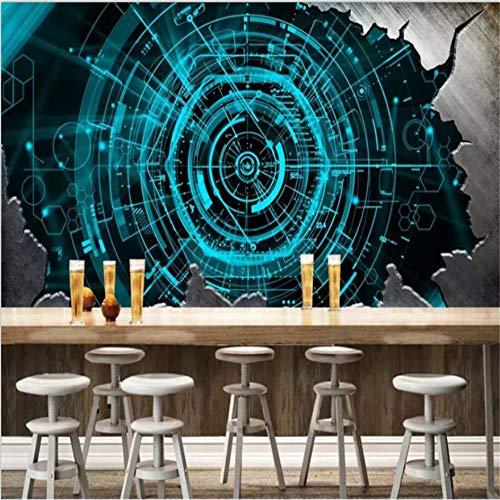 Wuyyii behang muurschildering op maat foto decoratie woonkamer 3D stereo staal plaat bar restaurant behang 200x140cm