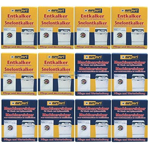 SET 2x6 ORIGINAL Europart 811714 10007690 Pflege Entkalker Schnellentkalker UND 811713 10007689 Reiniger Kalk Kalkablagerung Waschmaschine Spülmaschine Geschirrspüler zur Pflege und Werterhaltung