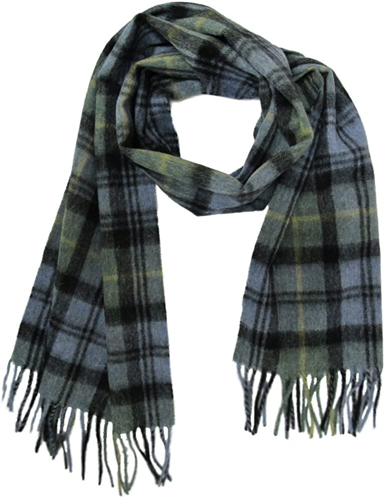 Shepherds Land Womens Max 86% OFF Tartan Fashionable Scarves With Lambswool Fringe