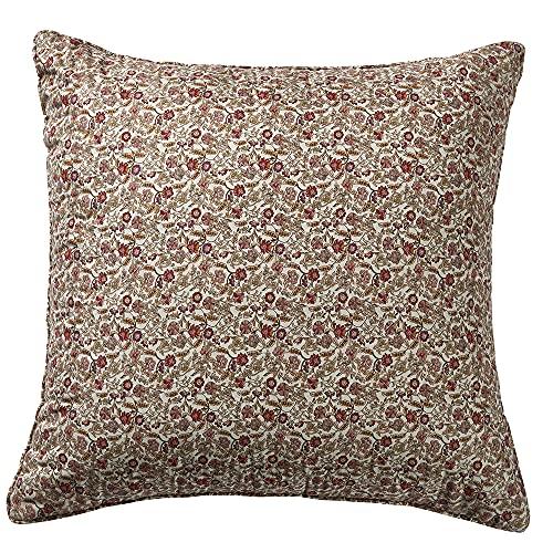 PimpamTex – Zierkissen mit Füllung, kombinierbar mit unseren Bouti-Tagesdecken, Dekoratives Kissen für das Bett, das Schlafzimmer & Wohnzimmer. Perfekt für Sofa & Bett. (55 x 55 cm, Fani Ziegelrot)