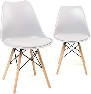 Superieur KAYELLES Chaises Design NASI, Lot De 2 (Blanc)