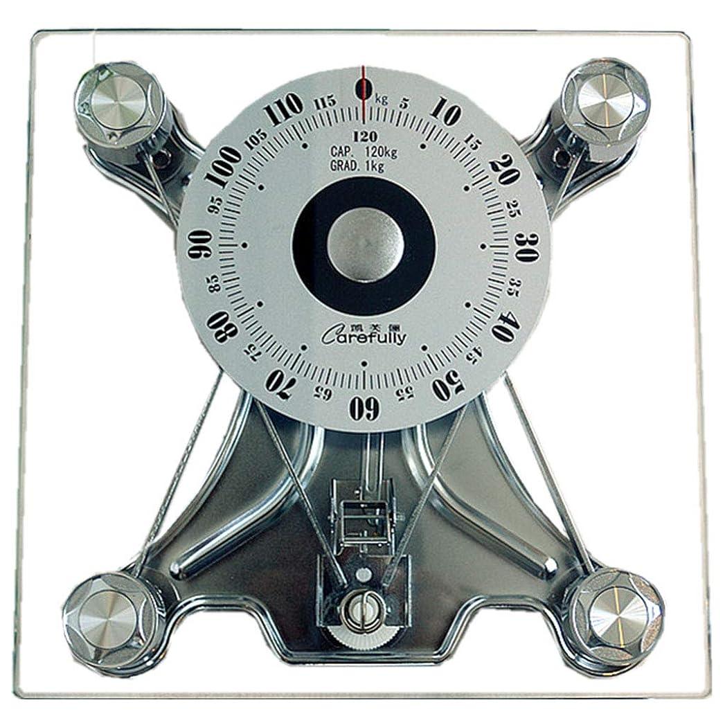 ビール足枷ホール高精度バスルームスケール機械式スケール、健康的な体重計、二重強化ガラス、アナログ大型ダイヤル、バッテリーなし、環境保護