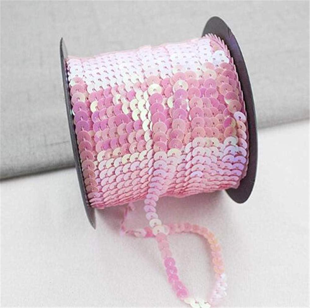 nastro con paillettes decorazioni per lavori artigianali nero vestiti e gioielli per matrimoni 90 m x 6 mm Hava Kolli