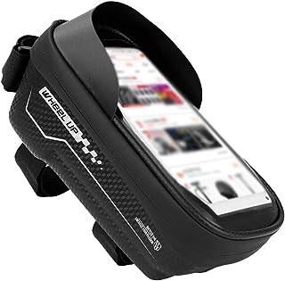 doublesmt Bike Front Frame Bag Waterproof EVA TPU Bike Bag Cellphone Below 6.5Inch