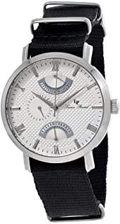 Lucien Piccard Verona Silver Dial Dual Time Men's Watch 10340-02S-NS