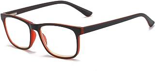 KoKoBin Mode blauw lichtfilter leesbril veerscharnier computerbril vierkant HD anti-blauw licht bril heren en dames