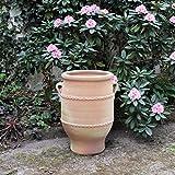 Creta ceramica | Anfora in terracotta fatta a mano con manico | 50 cm | Vaso per piante mediterraneo resistente al gelo | decorazione per giardino terrazza