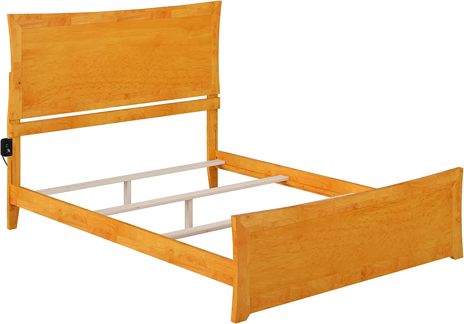 Atlantic Furniture Metro Traditional Bed with Matching Foot Board, Queen, Caramel