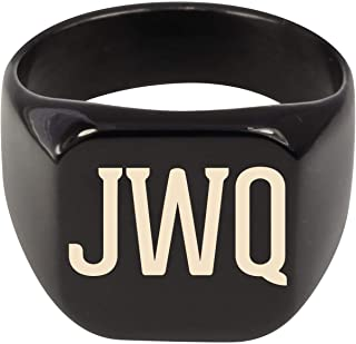 Molandra Products JWQ - Adult Initials Stainless Steel Ring
