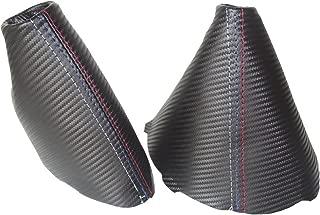 The Tuning-Shop Ltd for BMW 3 Series E90 E91 E92 E93 Shift & E Brake Boot Black Carbon Leather M3 Stitching