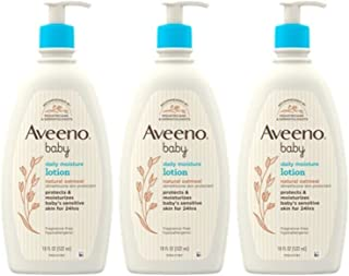 Aveeno Baby Daily Moisture Lotion for Delicate Skin with Natural Colloidal Oatmeal & Dimethicone, Hypoallergenic, Fragranc...