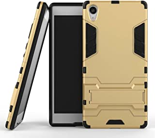 For Sony Xperia Z5 Premium Case, Ougger Extreme Protection [Kickstand] Shock Absorption Armor Cover Tough PC + Soft TPU Rubber 2in1 Back Rear for Sony Xperia Z5 Premium (Gold)