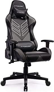 GTRACING Gaming Chair Ergonomic Racing Chair Backrest and Seat Height Adjustment with Pillows Recliner Swivel Rocker