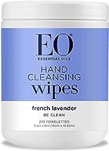EO Hand Sanitizer Natural Fiber Hand Cleansing Wipes: Lavender, 210 Count