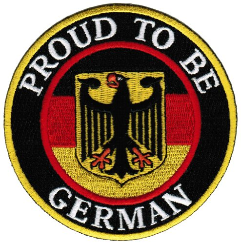 Proud To Be German Embroidered Patch Germany Eagle Flag Iron-On Biker Aufnäher Emblem