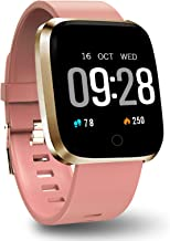 Polywell Fitness Armbanduhr mit Herzfrequenz, Fitness Tracker, Bluetooth Sportuhr..