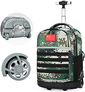 Trolley Bag Oxford Cloth Large Wheel Staircase Bag Large Capacity Waterproof Wear-Resistant Travel Backpack