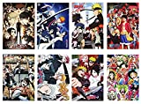 Toomilki Assorted Anime Posters of Attack On Titan, One Piece 4 Kinds Set of 8 PCS, 16.5