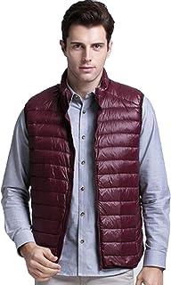QCHENG Men's Winter Lightweight Packable Down Puffer Vest Outwear Jacket Down Coats