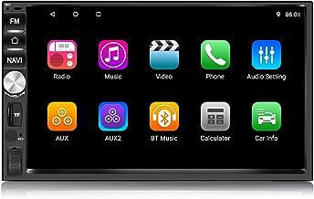 Panlelo PA1011 2 DIN Android 8.1 Car Stereo 1GB RAM 16GB ROM Auto Radio Am FM RDS Navegación GPS BT Mirror Link Reproductor Multimedia Soporte Control del Volante AV Salida Reposacabezas …