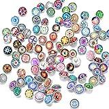 Soleebee 60 pcs misto 12mm di vetro alluminio a caso Guide Insight Snap Charms Bottoni gioielli