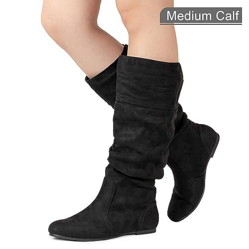 45fb336ac00d RF ROOM OF FASHION Women s Slouchy Knee High Hidden Pocket Boots