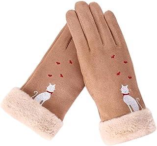 Fashion Women Gloves Winter Cat Love Heart Gloves Embroidery Keep Warm Mittens Full Winter Women's Hat Finger Female Gloves Women's Gloves