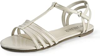 SANDALUP Flat Sandals for Women with Convenient Velcro