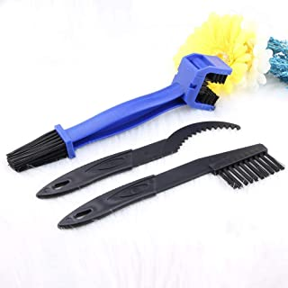 Bike Chain cleaner tool Motorcycle Set - OIBTECH Durable Bicycle Chain Gears Maintenance Cleaning Brush Kit for All Type C...