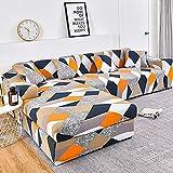 WXQY Funda de sofá elástica con Estampado geométrico para Sala de Estar Funda de sofá de Esquina de Spandex Funda Protectora de Muebles Funda de sofá A4 1 Plaza