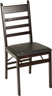 Cosco Ladder Back Wood Folding Chair, Espresso/Black, (Set of 4)
