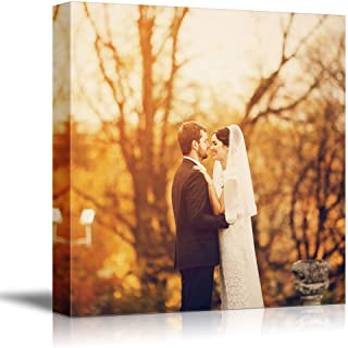 NWT Custom Canvas Prints with Your Photos for Wedding, Personalized Canvas Pictures for Wall to Print Framed 24x24 inches