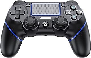 【2021】PS4 コントローラー 無線 Bluetooth接続 ワイヤレス コントローラー 振動機能 ゲームパット イヤホンジャック ジャイロセンサー PS4対応 PS4専用 充電ケーブル付き 最新システムバージョン対応