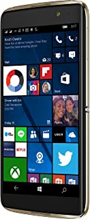 Alcatel IDOL 4S Windows 10 OS 5.5 Inch FHD GSM Unlocked 64GB 21MP Camera Smartphone with Advanced Security Fingerprint Scanner